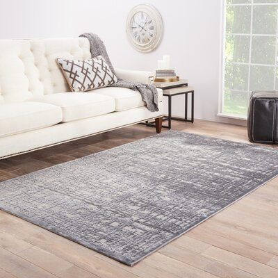 Oak Gray Area Rug Rug Size: Rectangle 76 x 96