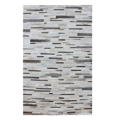 Derrick Hand Woven Pearl/Gray Area Rug Rug Size: Rectangle 9 x 12
