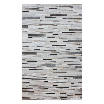 Derrick Hand Woven Pearl/Gray Area Rug Rug Size: Rectangle 8' x 10'