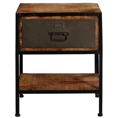 Otter Industrial End Table With Storage