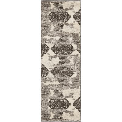 High Plain Retro Beige/Light Grey Rug Rug Size: Runner 23 x 9