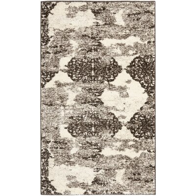 High Plain Retro Beige/Light Grey Rug Rug Size: Rectangle 4 x 6