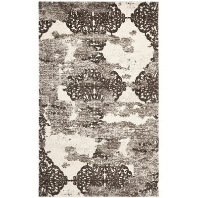 Twentynine Palms Retro Beige/Light Grey Rug Rug Size: 5 x 8