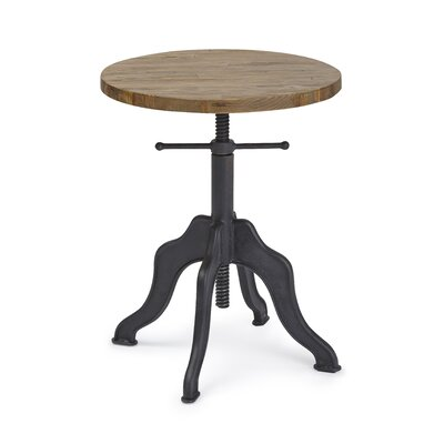 Halifax Round Adjustable End Table