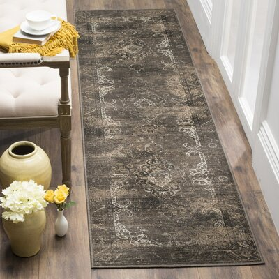 Deridder Brown Area Rug Rug Size: Runner 22 x 8