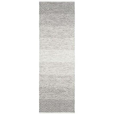 Amaya Hand Woven Gray Area Rug Rug Size: Runner 23 x 7