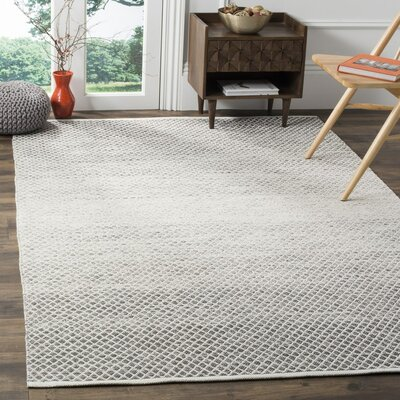 Amaya Hand Woven Gray Area Rug Rug Size: Rectangle 8 x 10