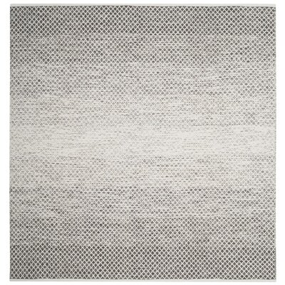 Amaya Hand Woven Gray Area Rug Rug Size: Square 6 x 6