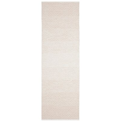 Alannah Hand Woven Beige/Ivory Area Rug Rug Size: Runner 23 x 7