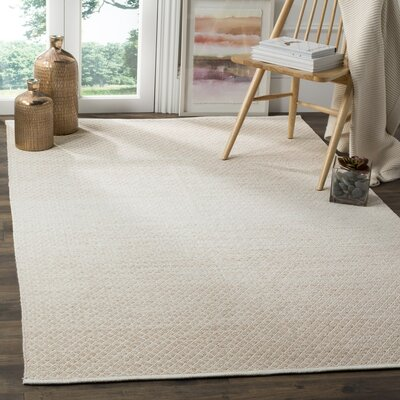 Alannah Hand Woven Beige/Ivory Area Rug Rug Size: Rectangle 5 x 8
