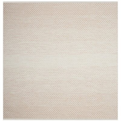 Alannah Hand Woven Beige/Ivory Area Rug Rug Size: Square 6 x 6