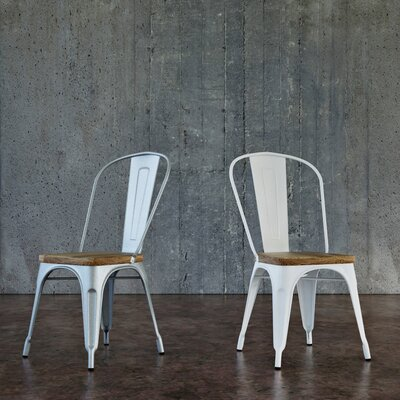 Hugo Dining Chair Color: White