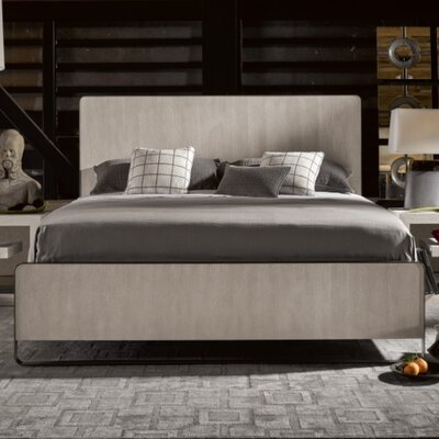 Naomi Bronze Metal Panel Bed Size: Queen