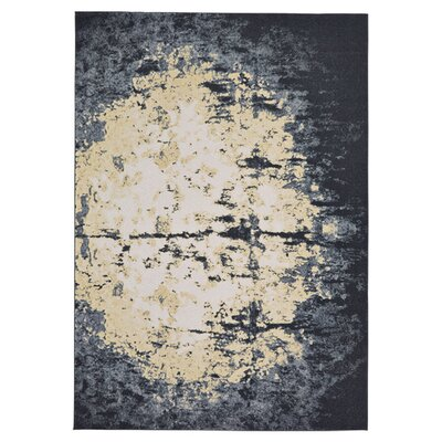 Woodfield Charcoal Area Rug Rug Size: 5 x 8
