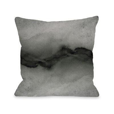 Shaker The Vibe Throw Pillow Size: 18 H x18 W x 3 D, Color: Gray