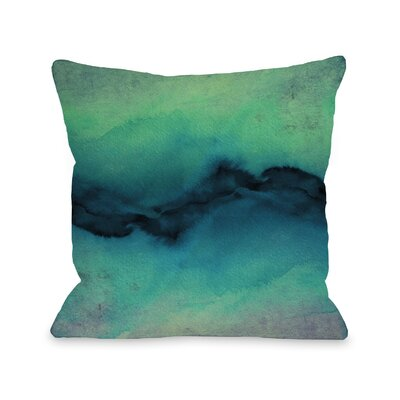 Shaker The Vibe Throw Pillow Size: 18 H x18 W x 3 D, Color: Indigo Teal