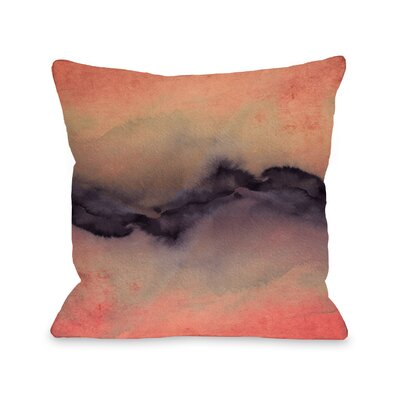 Shaker The Vibe Throw Pillow Size: 16 H x16 W x 3 D, Color: Rose/Gold/Violet