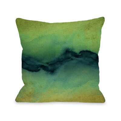 Shaker The Vibe Throw Pillow Size: 18 H x18 W x 3 D, Color: Yellow/Teal