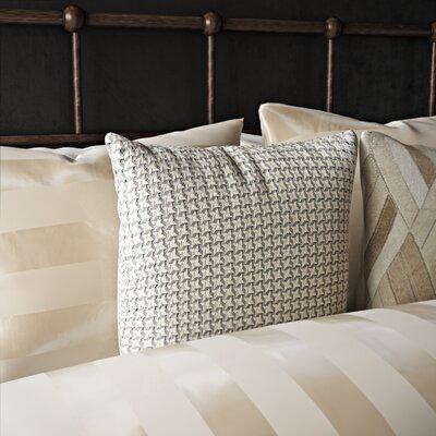 Divya Diamond Stars Leather Throw Pillow