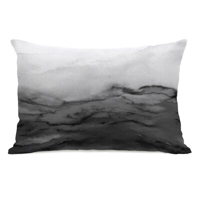Dominique Winter Waves Lumbar Pillow Color: Gray