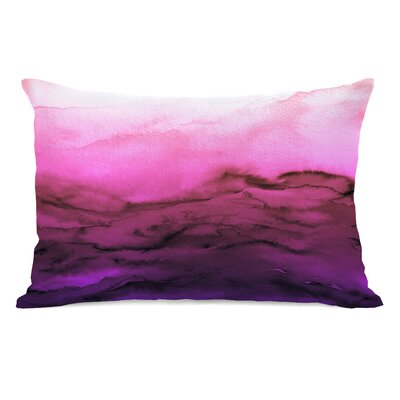 Dominique Winter Waves Lumbar Pillow Color: Purple/Fuschia