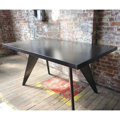 Halie Dining Table Top Finish: Dark Galvanized Steel, Size: 58