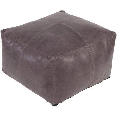 Lottie Leather Pouf Upholstery: Taupe