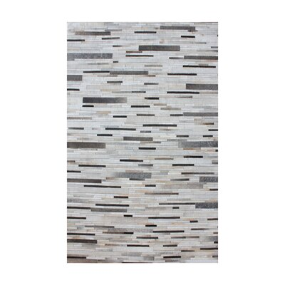 Derrick Hand Woven Pearl/Gray Area Rug Rug Size: Square 16