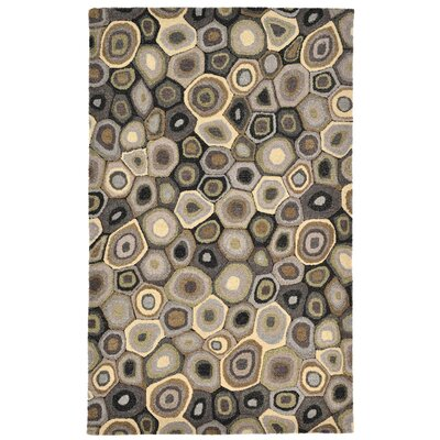 Harper Hand-Tufted Gray Area Rug Rug Size: 8 x 10