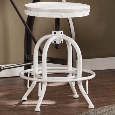 Alessia Adjustable Height Swivel Bar Stool