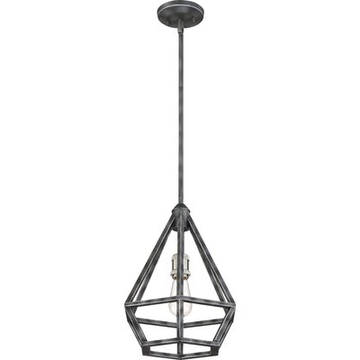 Basil 1-Light Foyer Pendant Finish: Iron Black/Brushed Nickel