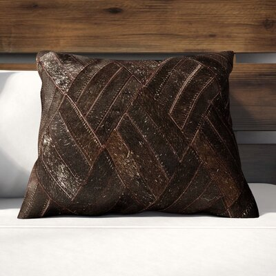 Cougar Cove Hide Natural/Organic Throw Pillow Color: Brown