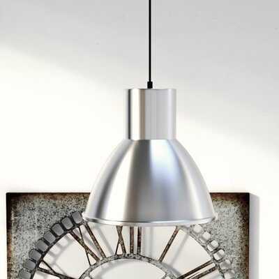 Cardwell 1 LED Integrated Bulb Bowl Pendant Finish: Brushed Nickel