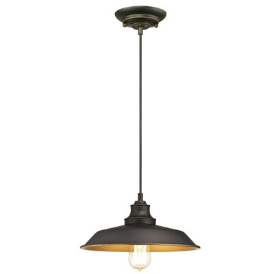 Alayna 1-Light Mini Pendant Size: 7.5 H x 12 W x 12 D
