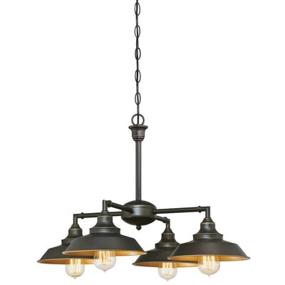 Alayna 4-Light Shaded Chandelier