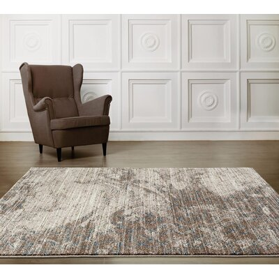 Lissette Beige/Gold Indoor/Outdoor Area Rug Rug Size: 5 x 7