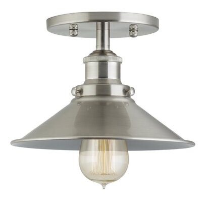 Montreal 1-Light Semi-Flush Mount Finish: Brushed Nickel