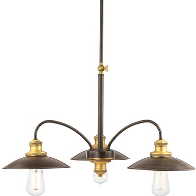 Sienna 3-Light Shaded Chandelier Finish: Antique Bronze