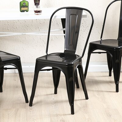Vauxhall Side Chair Color: Black
