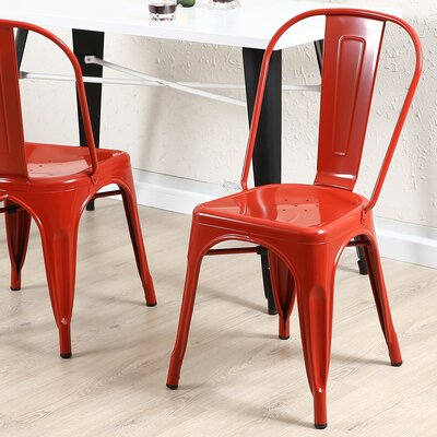 Vauxhall Side Chair Color: Red