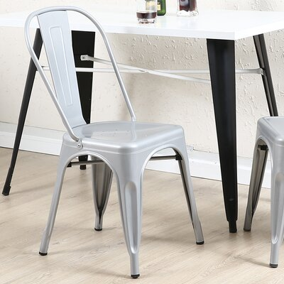 Vauxhall Side Chair Color: Silver
