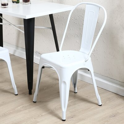 Vauxhall Side Chair Color: White