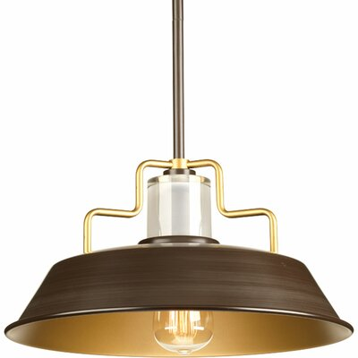 Jalisa 1-Light Inverted Pendant Finish: White, Size: 7.5 H x 14 W x 14 D