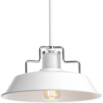 Sienna 1-Light Inverted Pendant Finish: White, Size: 7.5 H x 14 W x 14 D