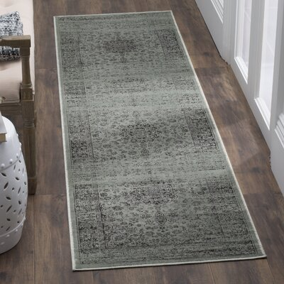 North Adams Spruce/Gray Area Rug Rug Size: 53 x 76