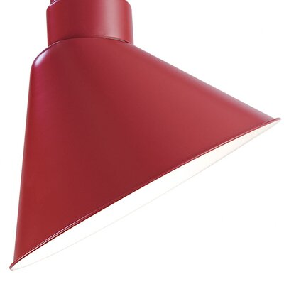 Fitzhugh 12 Metal Empire Wall Sconce Shade Finish: Satin Red