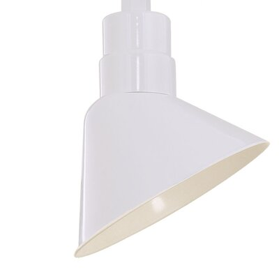 Kaden 10 Metal Empire Wall Sconce Shade Finish: White