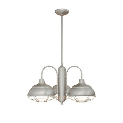 Bruges 3-Light Shaded Chandelier Finish: Satin Nickel
