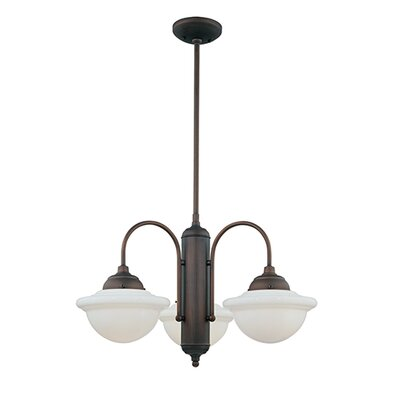 Bruges 3-Light Shaded Chandelier Finish: Rubbed Bronze