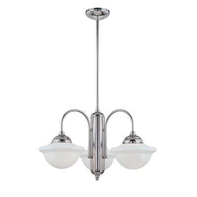 Bruges 3-Light Shaded Chandelier Finish: Chrome